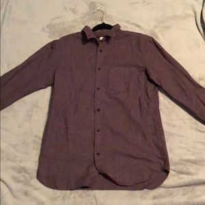 Men's maroon button down shirt